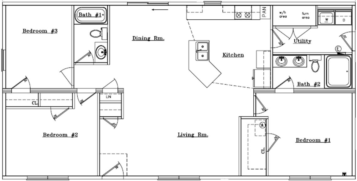 Simple house floor plans one story home design and style for Basic ranch home plans